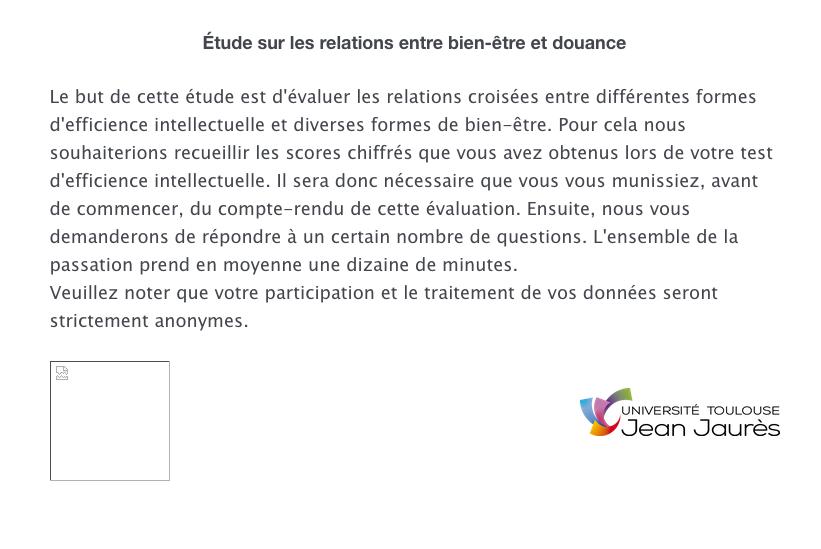 Douance vs. Bonheur